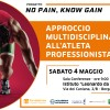 """Approccio multidisciplinare all'atleta professionista"" – Conferenza per il Progetto ""No Pain, Know Gain"""